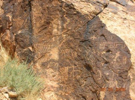 Parowan Gap Petroglyph's