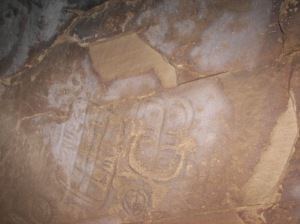 Parowan Gap Large Cave - Interior Glyph Panel