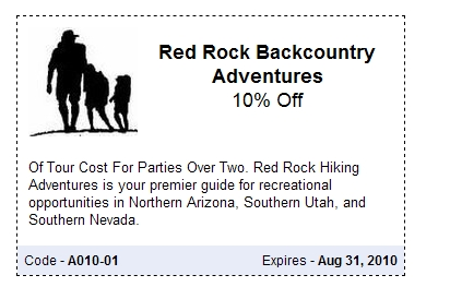 Save 10% @ RedRock Backcountry Adventures